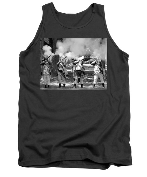Reliving History-bw Tank Top