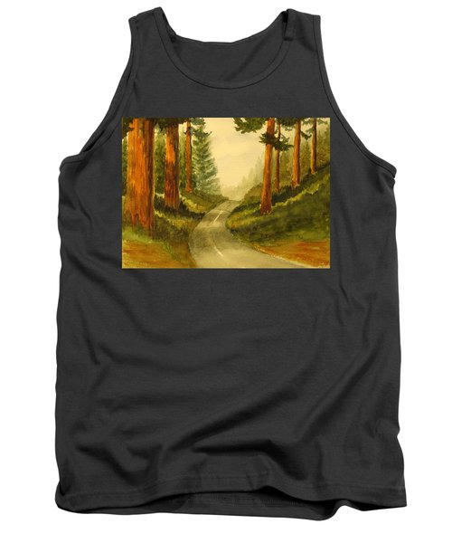 Remembering Redwoods Tank Top by Marilyn Jacobson