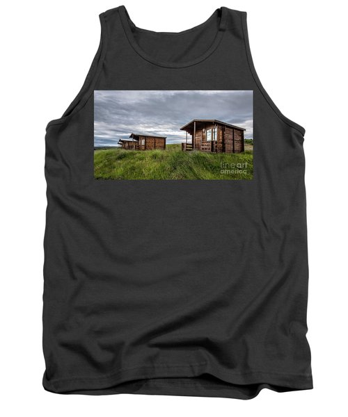 Tank Top featuring the photograph Remote Cabins Myvatn Iceland by Edward Fielding
