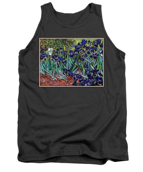 replica of Van Gogh irises Tank Top by Pemaro