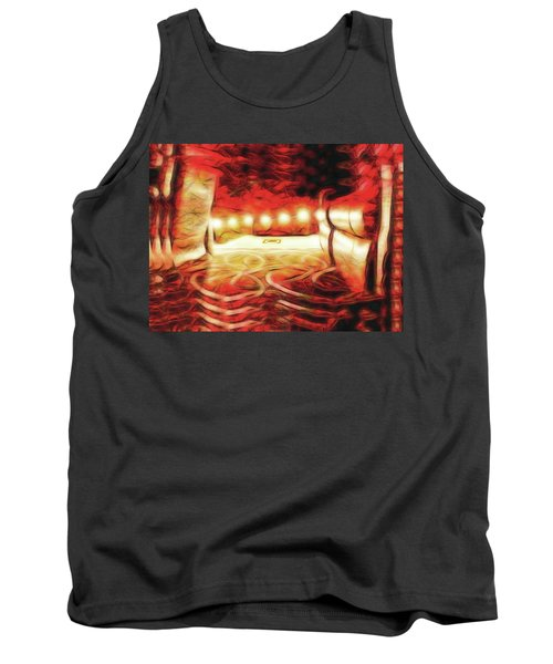 Tank Top featuring the digital art Reservations - Row C by Wendy J St Christopher
