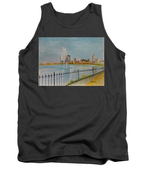 Reservoir In Central Park Tank Top