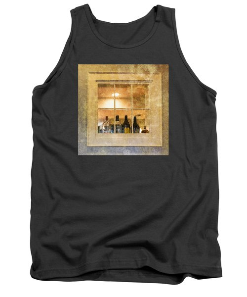Tank Top featuring the photograph Restaurant Window by Tom Singleton