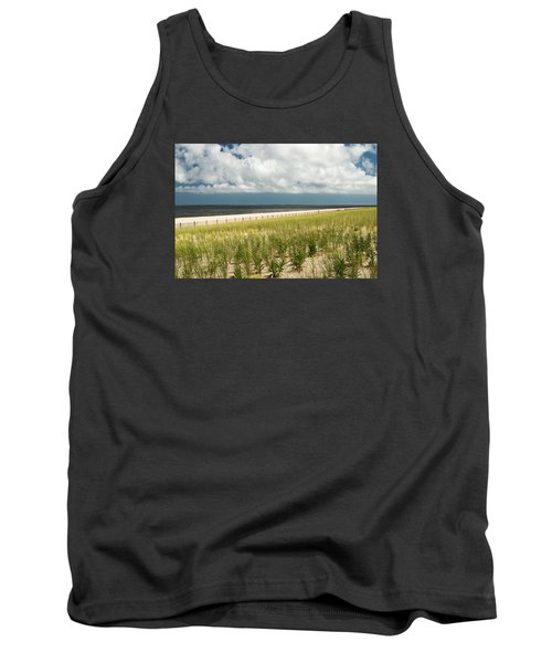 Restoring The Sand Dunes Tank Top by Gary Slawsky