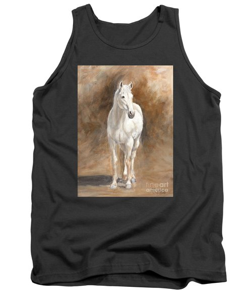 Retired Thoroughbred Race Horse Rustic Tank Top