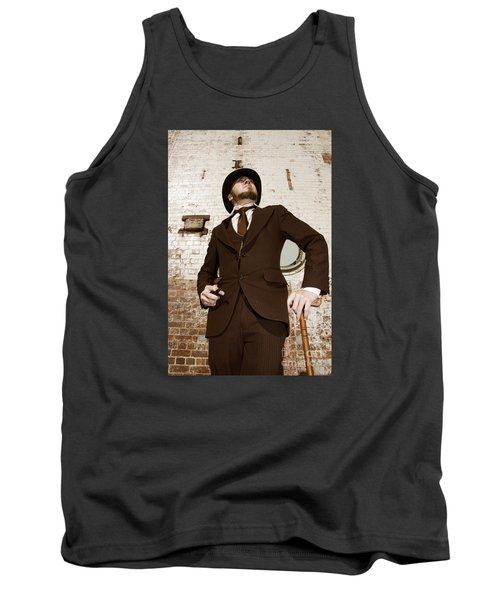 Tank Top featuring the photograph Retro Nobel Man by Jorgo Photography - Wall Art Gallery