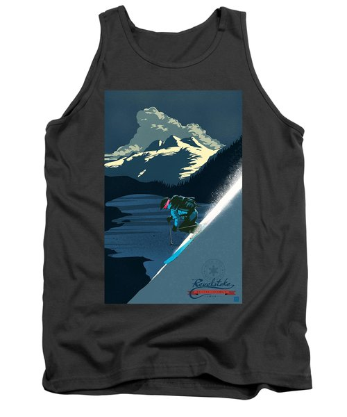 Retro Revelstoke Ski Poster Tank Top