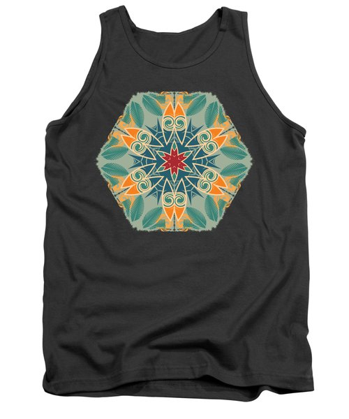 Retro Surfboard Woodcut Tank Top by Mary Machare
