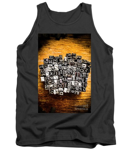Retro Typesetting In Print Tank Top