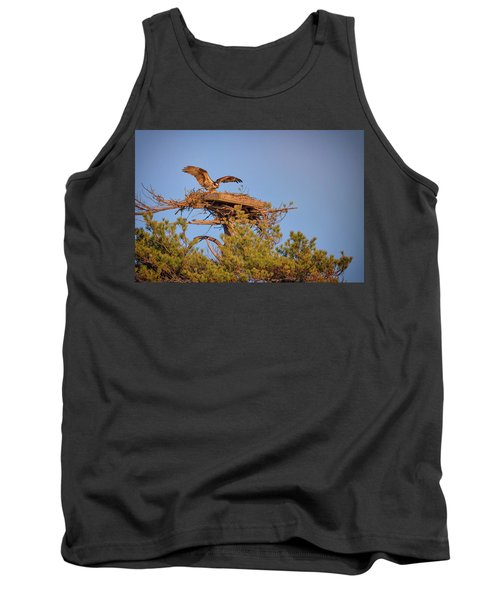 Tank Top featuring the photograph Returning To The Nest by Rick Berk