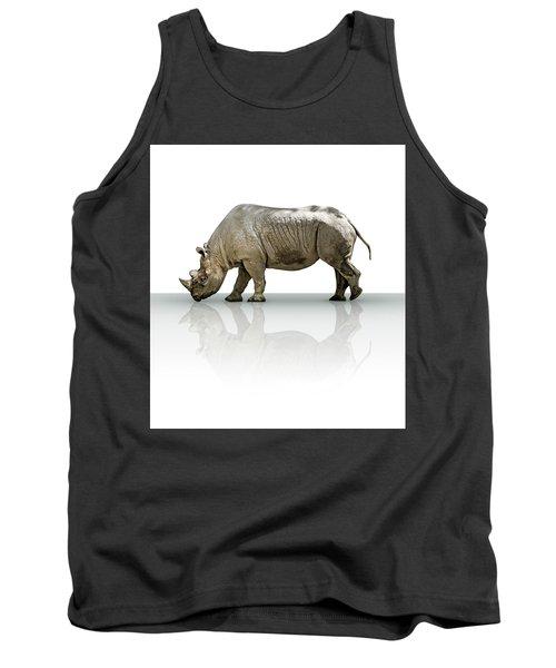 Rhinoceros Tank Top by James Larkin