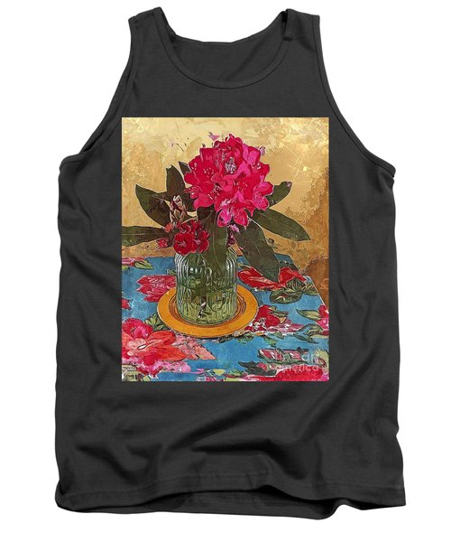 Tank Top featuring the digital art Rhododendron by Alexis Rotella