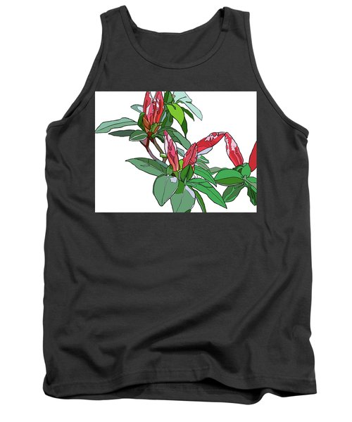 Rhododendron Buds Tank Top