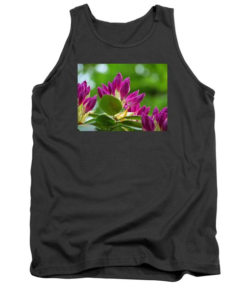 Rhododendron Buds Tank Top by MTBobbins Photography