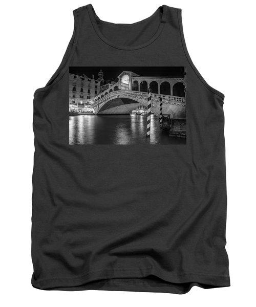 Rialto Bridge Black And White  Tank Top