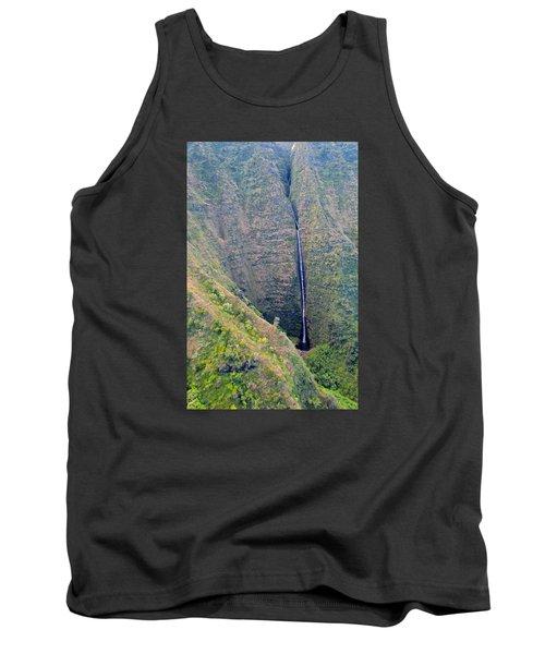 Ribbon Falls On The Napali Coast Tank Top by Brenda Pressnall
