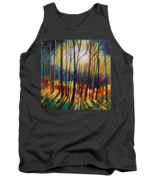 Tank Top featuring the painting Ribbons Of Moonlight by John Williams