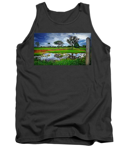 Rice Paddy View Tank Top by Ian Gledhill