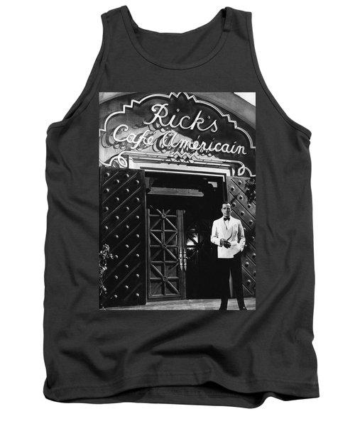 Ricks Cafe Americain Casablanca 1942 Tank Top by David Lee Guss
