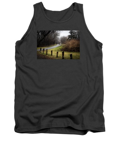 Riding Into The Fog Tank Top by Celso Bressan
