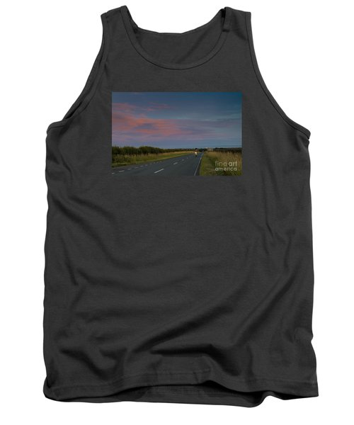 Riding Into The Sunset Tank Top by David  Hollingworth