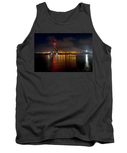 Tank Top featuring the photograph Riding Station, Tel Aviv, Water Side by Dubi Roman