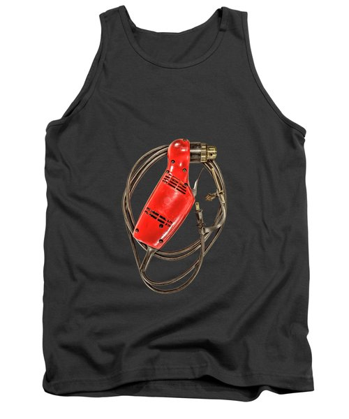 Right Angle Drill On Black Tank Top