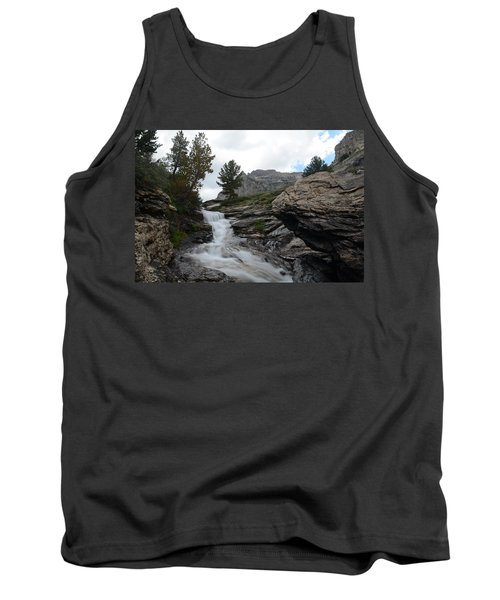 Tank Top featuring the photograph Right Fork Waterfall by Jenessa Rahn