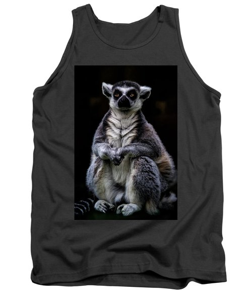 Tank Top featuring the photograph Ring Tailed Lemur by Chris Lord