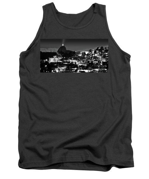 Rio De Janeiro - Christ The Redeemer On Corcovado, Mountains And Slums Tank Top