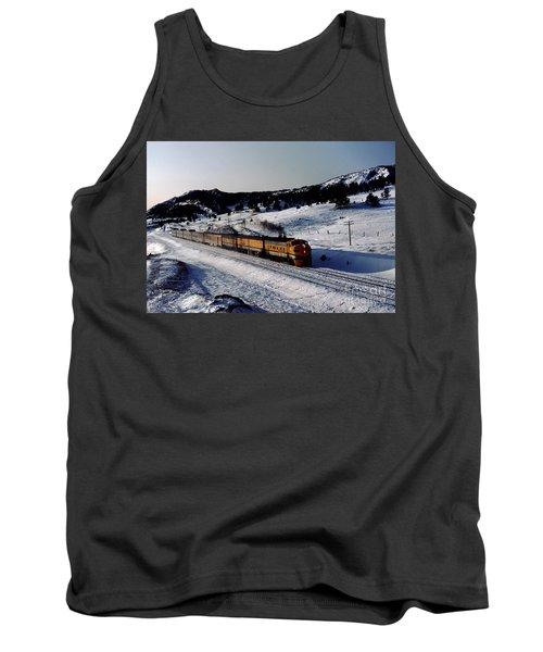 Rio Grande Zephyr Trainset In The Snow, Plainview Colorado, 1983 Tank Top