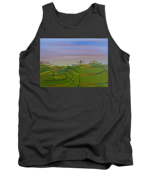 Tank Top featuring the painting Ripples Of Life 1.2 by Tim Mullaney
