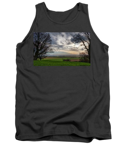 Tank Top featuring the photograph River Forth View From Clackmannan Tower by Jeremy Lavender Photography