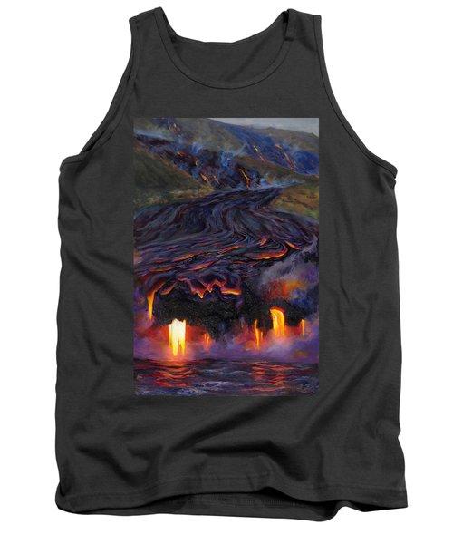 River Of Fire - Kilauea Volcano Eruption Lava Flow Hawaii Contemporary Landscape Decor Tank Top