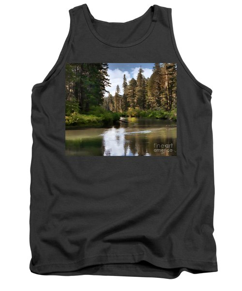 Tank Top featuring the painting Millers Creek Painterly by Peter Piatt