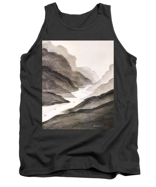 River Running Through Mountains Tank Top by Edwin Alverio