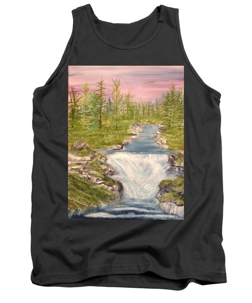 River With Falls Tank Top