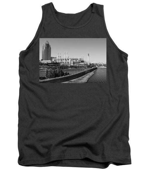 Riverfront Stadium Black And White  Tank Top