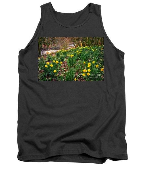 Riverside Daffodils In Spring Tank Top