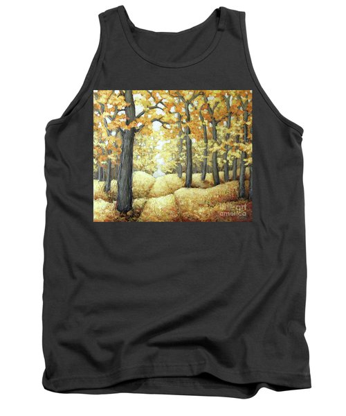 Road To Autumn Tank Top by Inese Poga
