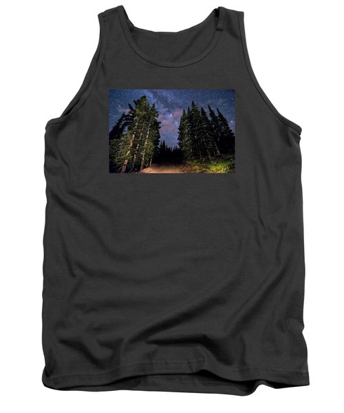 Road To Milky Way Tank Top by Michael J Bauer