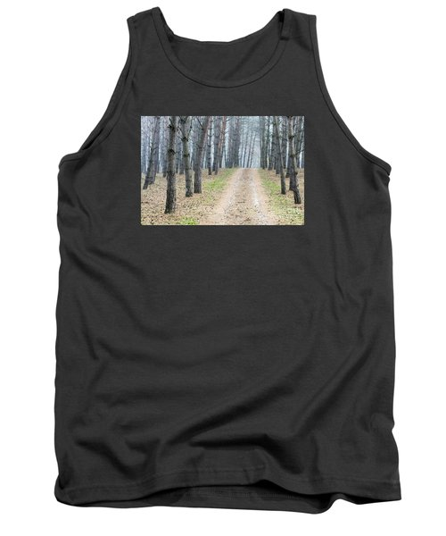 Road To Pine Forest Tank Top by Odon Czintos