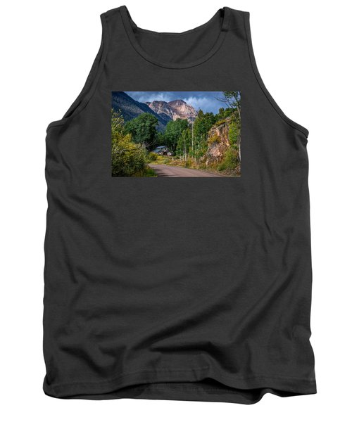 Road Towards Cinnamon Pass Tank Top by Michael J Bauer