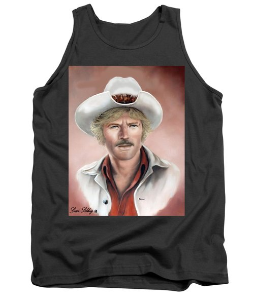 Tank Top featuring the painting Robert Redford by Loxi Sibley