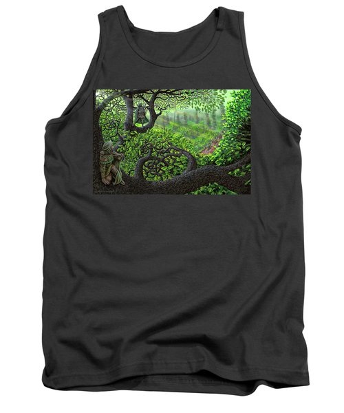 Tank Top featuring the painting Robin Hood by Dave Luebbert