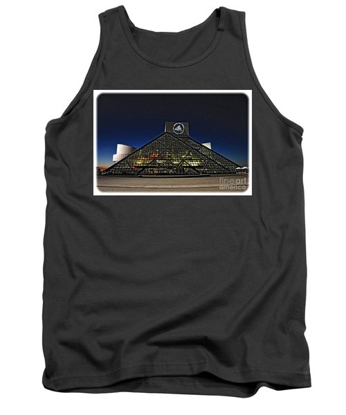 Tank Top featuring the photograph Rock And Roll Hall Of Fame - Cleveland Ohio - 5 by Mark Madere