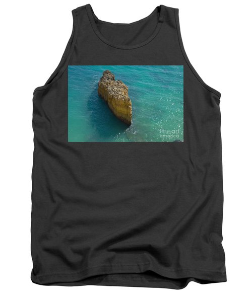 Rock Formation And The Sea In Algarve Tank Top by Angelo DeVal