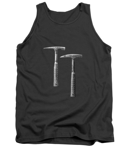 Rock Hammers On Plywood In Bw 65 Tank Top