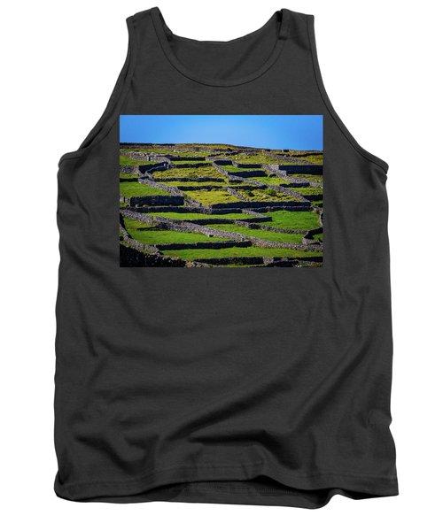 Tank Top featuring the photograph Rock Walls Of Inisheer, Aran Islands by James Truett