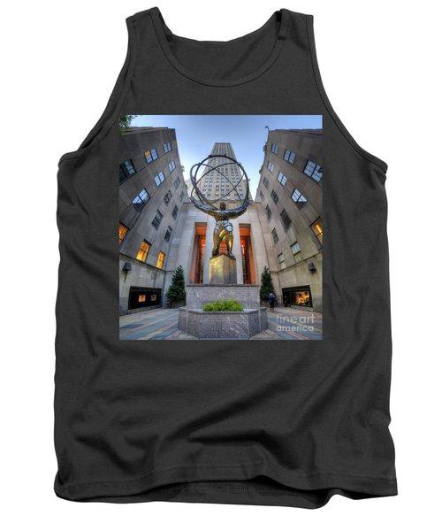 Rockefeller Centre Atlas - Nyc - Vertorama Tank Top